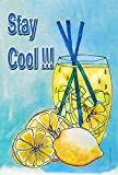 DIYCCY Stay Cool Limonade 68,6 x 94 cm Deko Sommer Lemon Drink Kalte Getränke House Flagge