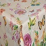 Tischdecke Wachstuch Gartentischdecke rund eckig oval in verschiedenen Größen Meterware Wachstischdecke Schmetterlinge