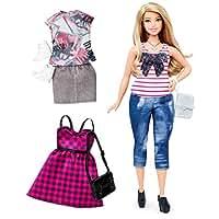 Mattel Barbie DTF00 Barbie Fashionistas Style Puppe und Moden im Alltagsschick-Look