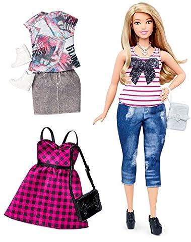 Mattel Barbie DTF00 Barbie Fashionistas Style Puppe und Moden im