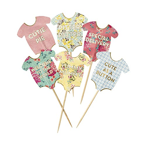 Talking Tables Truly Scrumptious Baby Grow Kuchen Topper Für ein Baby Dusche, multicolor (24 Stück) (Edel Fancy Dress)