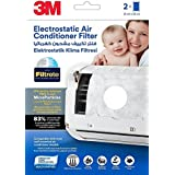 3M Electrostatic Air Purifying Filter for Split ACs (White - 2 pcs)