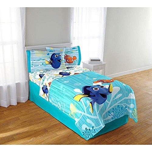Disney Pixar Findet Dory Twin Große 4Stück Bettwäsche-Set–Tröster und Tabelle Set 167,6x 243,8cm (Tröster Set Asiatischen)