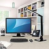 Desk Lamp, TaoTronics Table Lamps LED Elune Touch Control, 5-Level Dimmable (4 Lighting Modes, Flexible Arm, 1-Hour Auto Timer, 5V/1A USB Port, Foldable Lamp) - Black Bild 8