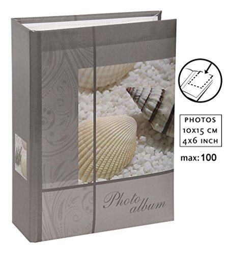 Shell and Stars Einsteckalbum für 100 Fotos in 10x15 cm Einsteck Foto Album: Farbe: Grau