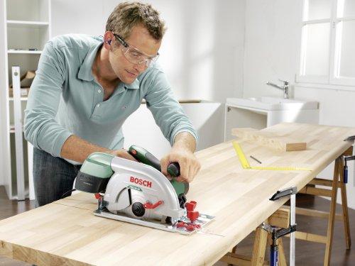 Bosch DIY Kreissäge PKS 66 AF, 1 Hartmetallsägeblatt Speedline Wood, Parallelanschlag, Führungsschiene, Karton (1600 W, Schnitttiefenbereich bei 90° 0-66 mm, Kreissägeblatt Nenn-Ø 190 mm) - 5
