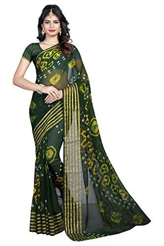 Amazon Brand SVB Sarees New Collection Bollywood Designer Chiffon Saree in Bandhani...