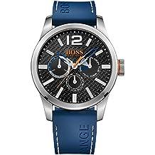 Boss Naranja para hombre-reloj analógico de cuarzo silicona Paris Multieye 1513250
