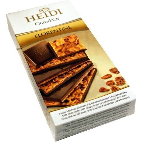 Heidi Premium Gourmet Schokoladentafel Florentine 3 x 100g (karamellisierte Mandelspliter)