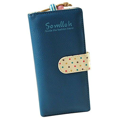 Minetome Femmes PU portefeuille en cuir d'embrayage longue portefeuille zip titulaire de la carte de sac