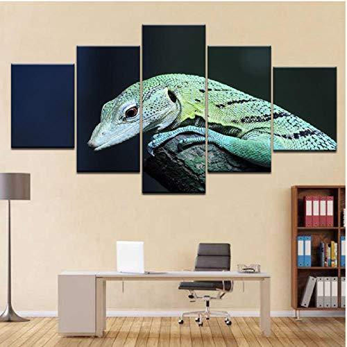 dechse Auf Bäumen 5 Panel Hd Print Moderne Modulare Wand Poster Leinwand Kunst Malerei Für Zuhause Wohnzimmer Dekor-30X40/60/80Cm,With Frame ()