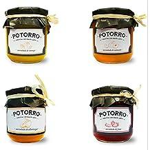 Potorro Gourmet - Pack Dulce (Mermelada de Fresa, Mermelada de Melocotón, Mermelada de