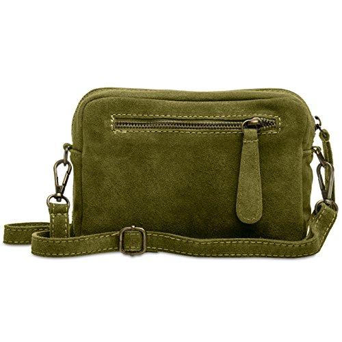 CASPAR Fashion, Borsa a tracolla donna Verde oliva