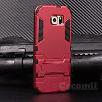 Galaxy S6 Funda, Cocomii Iron Man Armor NEW [Heavy Duty] Premium Tactical Grip Kickstand Shockproof Hard Bumper Shell [Military Defender] Full Body Dual Layer Rugged Cover Case Carcasa Samsung (Red)