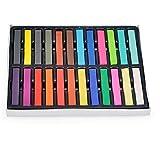 24 Stück Frauen Girls Einweg Haar Farbe Dye Kreide Stift Malbücher Buntstifte weiche Pastelle