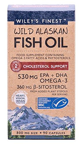 Wiley's Finest – Wild Alaskan Fish Oil Cholesterol Support 800 mg. – 90 Softgels