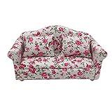 Gaddrt Mini Puppenhaus Möbel Sofa Set Miniatur Wohnzimmer Kinder Pretend Spielen Spielzeug Miniatur Sofa 13.5x6.3x6.6cm (Pink)