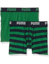 Puma Unterhose Stripe Print Boxer 2P Verde amazon green Talla:140