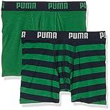 Puma Jungen Stripe Print Boxer 2P Unterhose, Amazon Green, 140