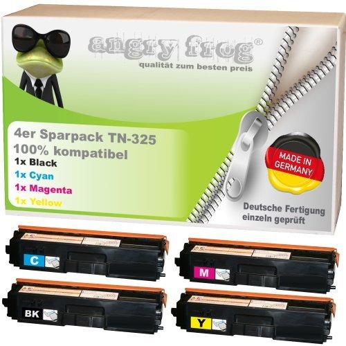 4x Toner made in Germany ersetzen BROTHER TN325 BK/ C/ M/ Y - für BROTHER DCP 9055 CDN, DCP 9270 CDN, HL 4140 CN, HL 4150 CDN, HL 4570 CDW, HL 4570 CDWT, MFC 9460 CDN, MFC 9465 CDN, BROTHER MFC 9970 CDW -