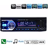 AUDEW audio estéreo Bluetooth para coche con reproductor de MP3 Radio FM Car AUX CD receptor USB/SD remoto MP3 Player soporte de reproducción, archivos, WMA/MP3, WAV/abeja U SD Card de disco