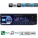 AUDEW audio estéreo Bluetooth para coche con reproductor de MP3 Radio FM Car AUX CD receptor USB/SD remoto MP3 Player soporte de reproducción, archivos, WMA/MP3, WAV/abeja U SD Card de disco