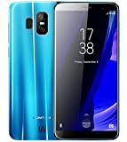 HOMTOM S7 - 5,5 Zoll (18: 9-Verhältnis) Vollbild Android 7.0 4G Ultra-Slim-Smartphone, 3 GB RAM 32 GB ROM Quad-Core-Triple-Kamera (8MP + 2MP + 13MP) - Blau