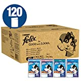 Felix As Good As It Looks Cat Pouches Fish In Jelly 100g (120 Pouches)