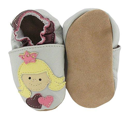 HOBEA-Germany Krabbelschuhe Erdbeere, Chaussures Bébé quatre pattes (1-10 mois) mixte bébé Prinzessin