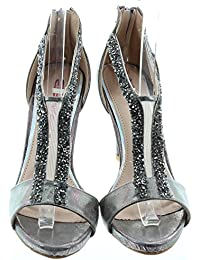 68fe24599ef6 Dolcis - Ladies Farah Diamante Sandals In Pewter