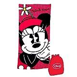 Exclusiv* Disney Minnie Mouse Strandtuch Badetuch Duschtuch+Rucksack Set