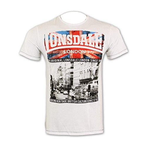 Lonsdale London Herren T-Shirt Kinnington white - weit geschnitten White