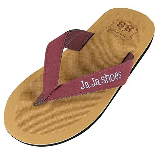 Webla Männer Sommer Flip Flops Schuhe Sandalen Herren Slipper Flip-Flops Rot