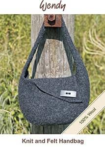 100%  laine Wendy tricot et feutre pour sac à main
