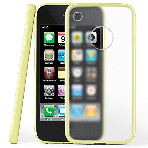 iPhone 3GS Hülle Slim Transparent Beige [OneFlow Impact Back-Cover] Dünn Schutzhülle Silikon Handy-Hülle für iPhone 3G/3 GS Case TPU Tasche Matt