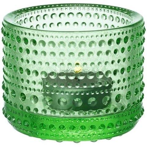 Iittala Kastehelmi Votiva Tealight Holder 64mm, Verde Manzana