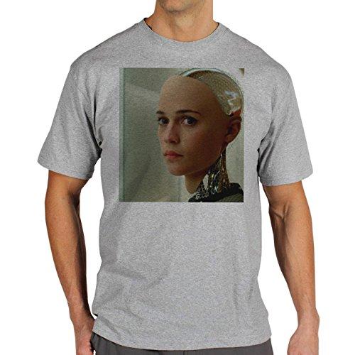 Ex Machina The Truth Is Scary Background Herren T-Shirt Grau