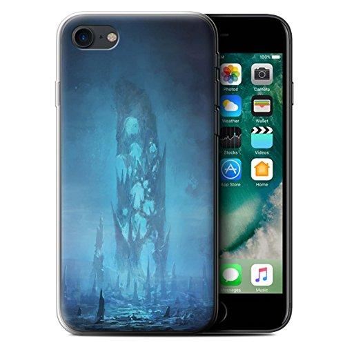 Offiziell Chris Cold Hülle / Gel TPU Case für Apple iPhone 7 / Chaos Entfesselt Muster / Fremden Welt Kosmos Kollektion Rest