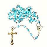 Blu sfaccettato acrilico 6mm rosari iridescente perline 49cm lunghezza