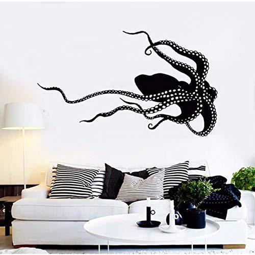 rylryl octopus monster sea animals vinyl wandtattoo wohnkultur wohnzimmer diy kunst wandbild entfernbare wand sticker57x33cm (Sea Kunst Monster)
