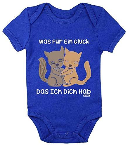 HARIZ Baby Body Kurzarm Was Für Ein Glück Das Ich Dich Hab Tiere Zoo Plus Geschenkkarten Royal Königs Blau 6-12 - Der König Und Ich Kostüm