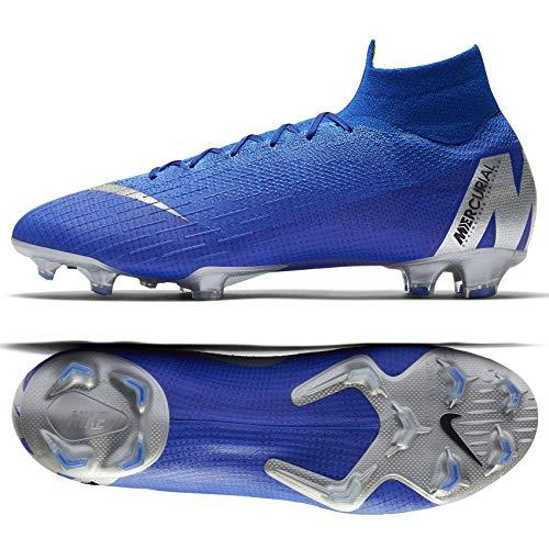 Nike Herren Fußball-Schuhe Mercurial Superfly VI Elite FG Rasen blau, Farbe:Blau, Größe:EUR 44.5 (Schuhe Nike Größe 6)
