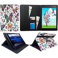 Archos 101 Platinum 3G Tablet / Diamond Tab ( 2017 ) 10.1 Pollici Multi Butterfly Universale Rotazione PU Pelle Custodia Case Cover ( 10 - 11 Pollici ) di Sweet Tech
