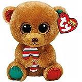 Ty Beanie Boos Navidad Bella-Osita Marrón 23 cm (37251TY), Color,...
