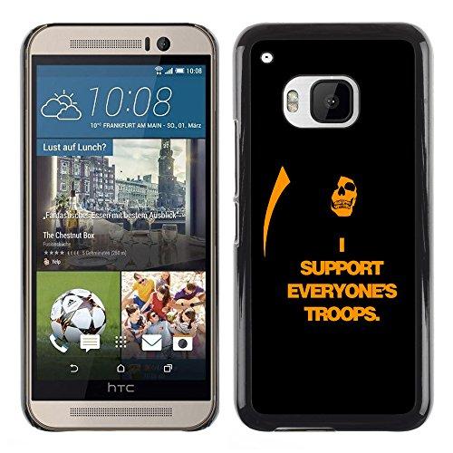 Planetar® ( I Support Everyone's Troops ) HTC One M9 Guscio Protettivo Cassa Cover