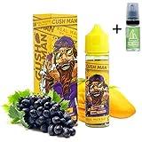 E Liquid Nasty Juice Cush Man Mango Grape 50ml - 70vg 30pg - booster shortfill + E Liquid The Boat 10 ml lima limón - Para cigarrillo electrónico.
