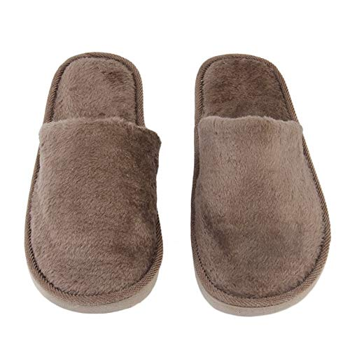 98f03ac557ca03 KNOSSOS Plush Indoor Home Women Men Anti Slip Shoes Soft Warm Cotton Silent  Slippers(38
