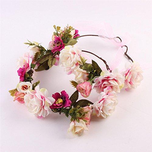 PinzhiHandgemachte Blumen Kranz Krone Blume Stirnband Haar Girlande Hochzeit Kopfschmuck (Kind Kopf Kranz)