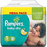 Pampers - Baby Dry Couches Taille 5 (11-25 kg/Junior) - Mega Pack de 74 couches