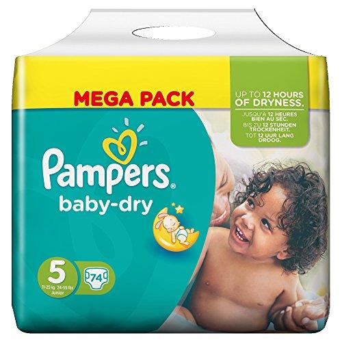Pampers Baby Trocken Größe 5 Junior 11-25Kg (74)